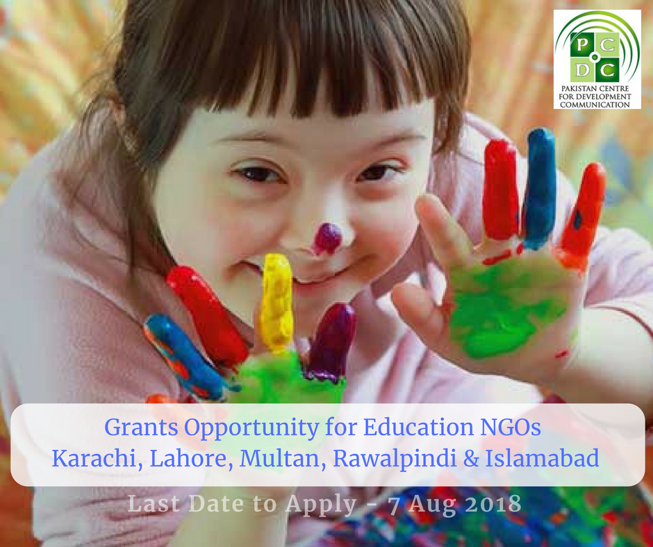 International Organization in Pakistan Inviting Proposals from Education NGOs for Grants. Last Date to Apply 7 Aug 2018.