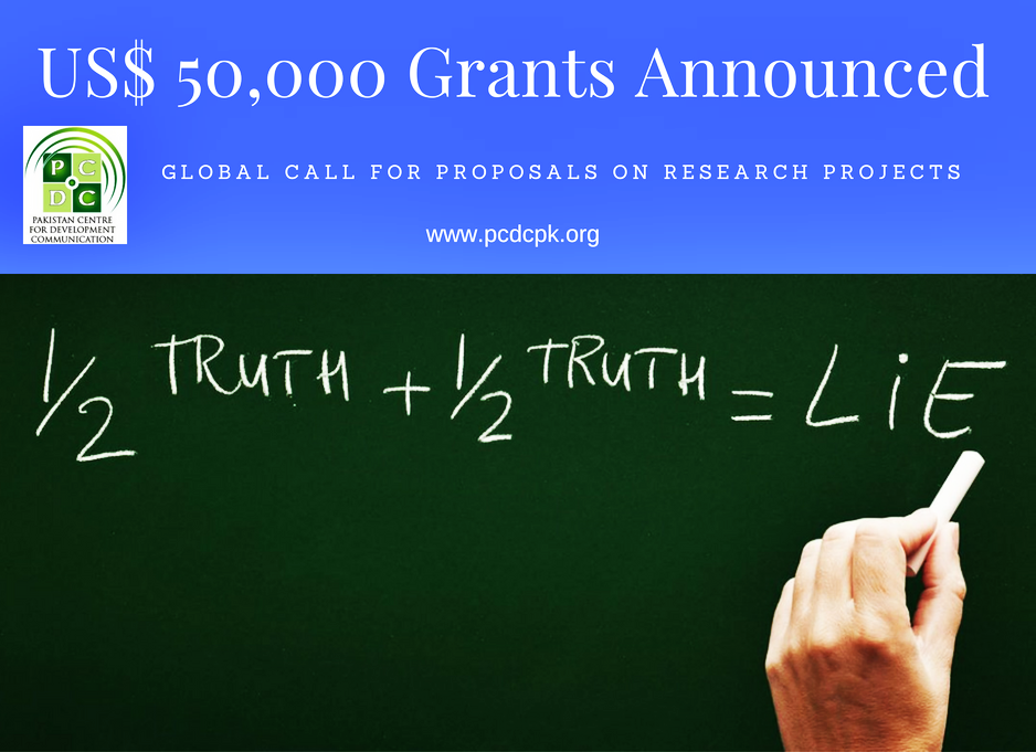 US 50,000 Call for Research Proposals on News, Information & Elections Impact. Researchers, think tanks and groups can apply. Last date to submit proposals is 2 August 2018