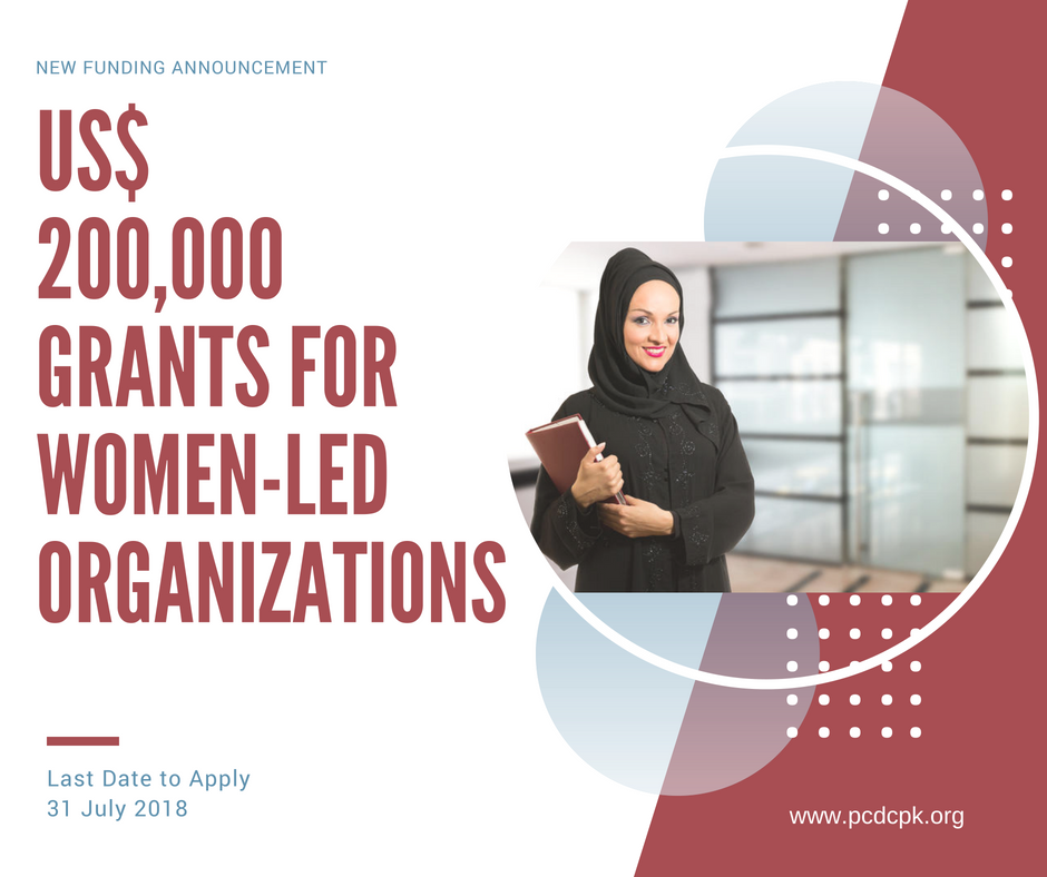 US$ 200,000 Grants Opportunity for Women NGOs, Networks & Groups. Apply for Projects on Women's Political Participation, Ownership Rights, Organizational Development, Climate Change Adaptation & Access to Services.