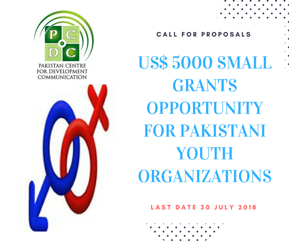 US$ 5000 Small Grants Funding Opportunity for Pakistani Youth Organizations, Groups & Advocates on Reproductive Health Rights. Last Date to Submit Proposals is 30 July 2018.