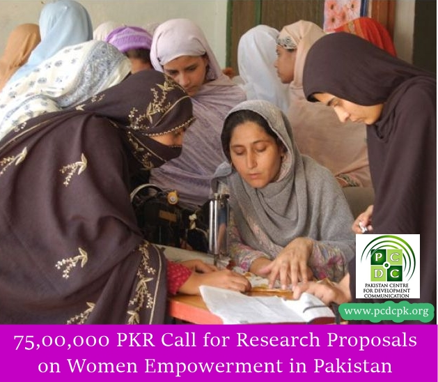75,00,000 PKR Call for Research Proposals  on Women Empowerment in Pakistan