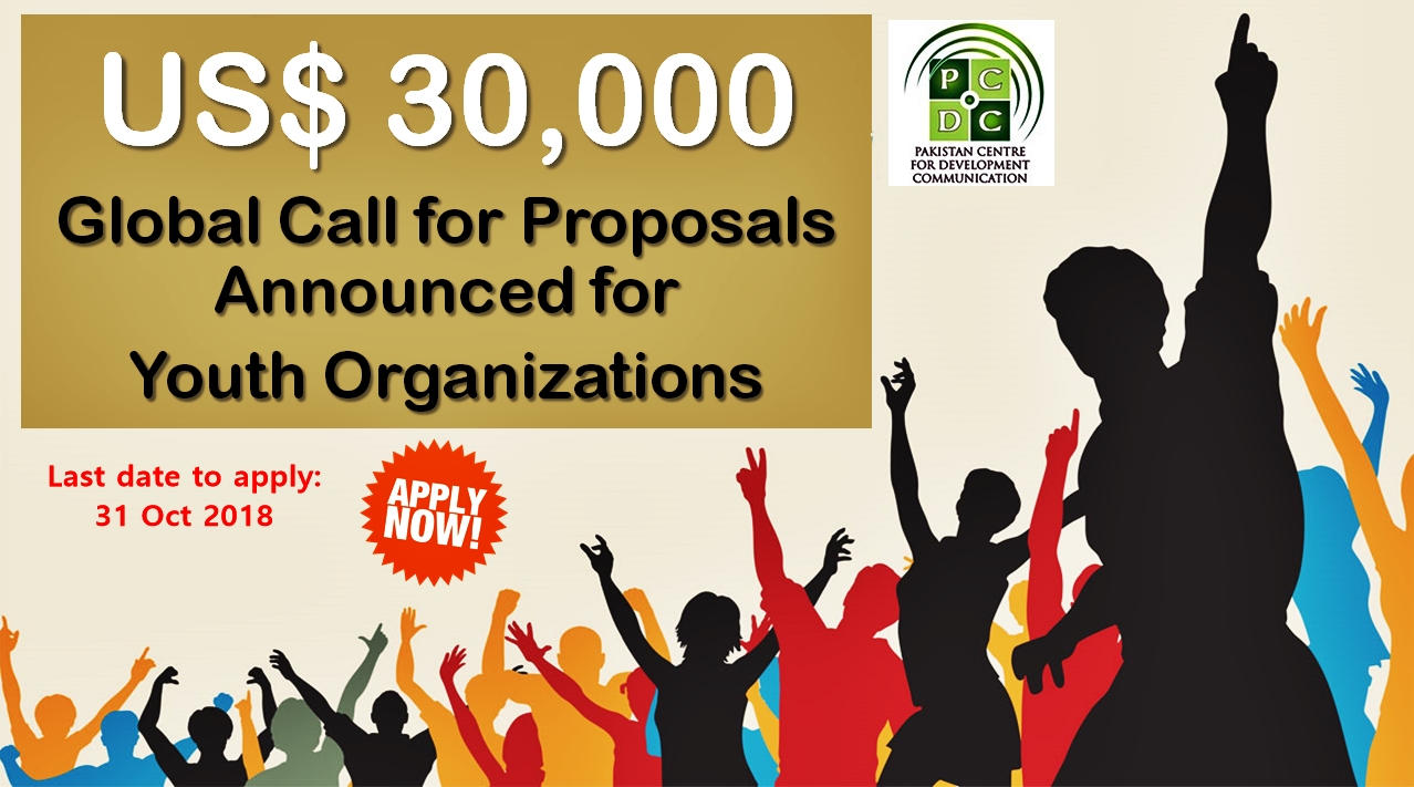 US$30,000 Call for Proposals – Youth Organizations in Pakistan Are Eligible to Apply